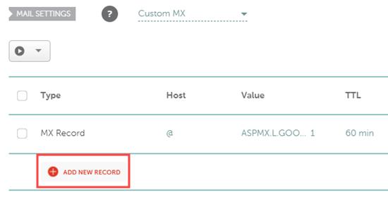 Adding a new MX record in Namecheap
