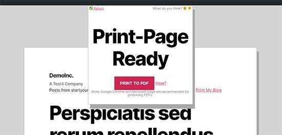 PDF file ready to save