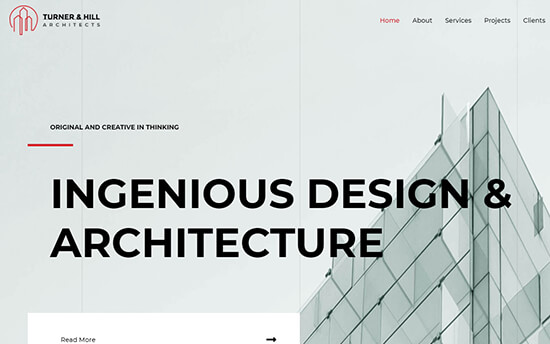 Astra theme for Architecture Firms