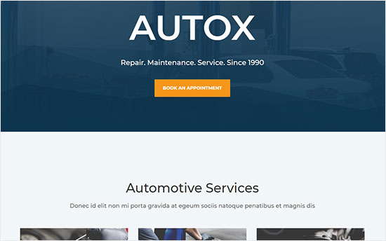 Divi Auto Repair WordPress Theme