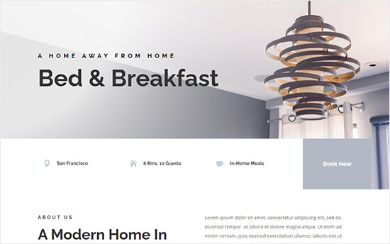 Divi - bed and breakfast theme