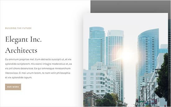 Divi theme for Architecture Firms