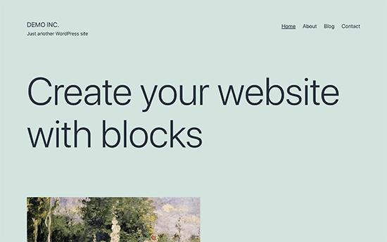 New default WordPress theme Twenty Twenty-One