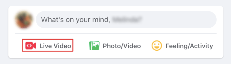 Whats on your mind status bar in Facebook