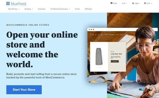 Bluehost WooCommerce hosting offer