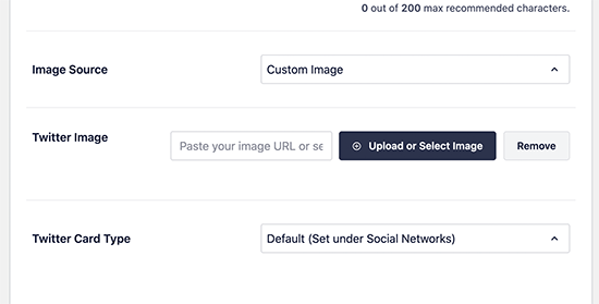 Adding your custom image to be used as Twitter card for category