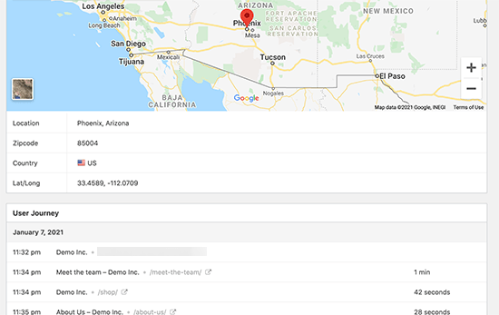 Geo location tracking for form submissions in WordPress
