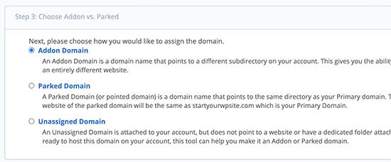 As an addon domain