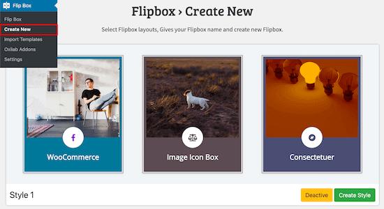 Create a new flipbox