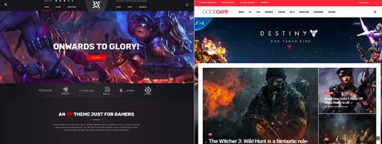 Gaming Website Layouts