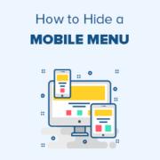 How to Hide a Mobile Menu in WordPress (Beginner's Guide)