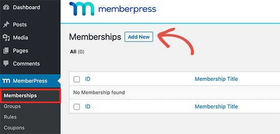 Add new membership plan
