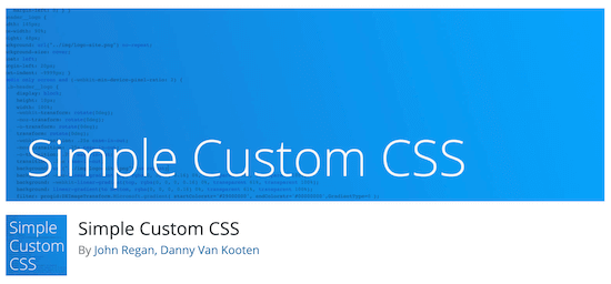 Simple customized  CSS Jetpack alternative