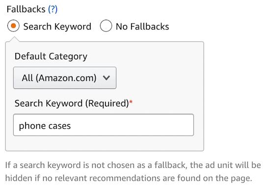 Add product keyword fallback