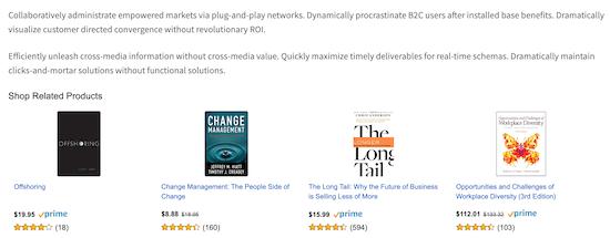 Amazon ads example