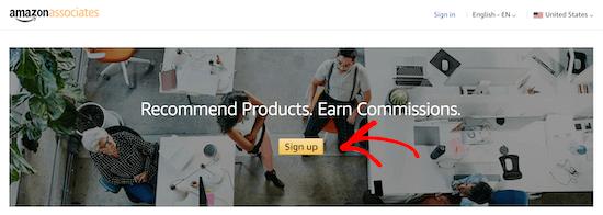 Amazon Associates sign up