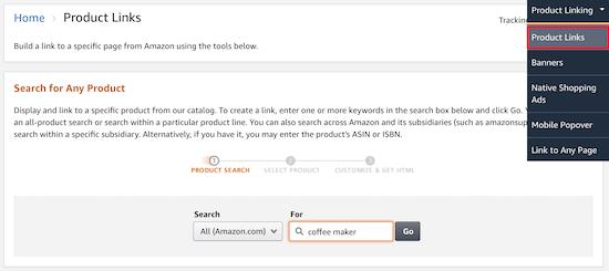 Amazon product links