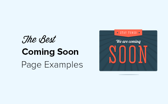 Best Coming Soon Page Examples