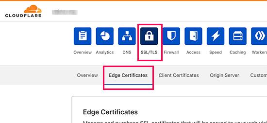 Configurazione delle intestazioni di sicurezza HTTPS in Cloudflare