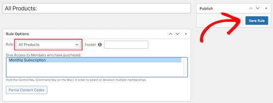 Configure membership rule
