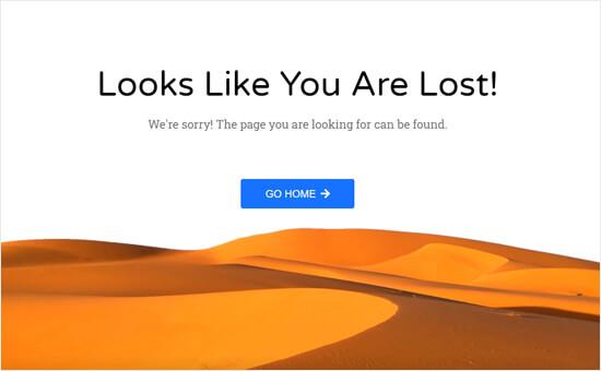 Desert error page