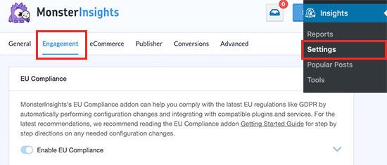 Stato del componente aggiuntivo di conformità UE