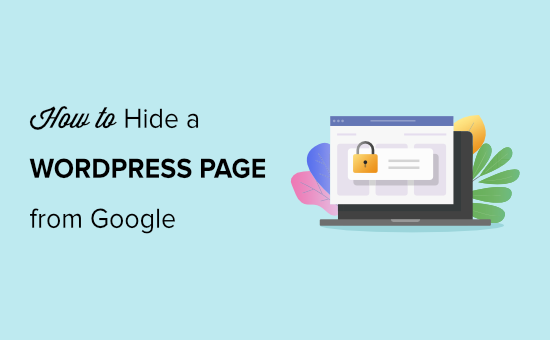 how to hide a wordpress page from google