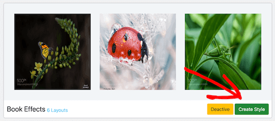 Image hover animation create style