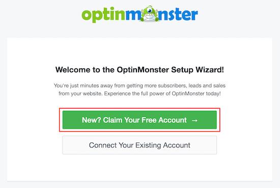 OptinMonster setup wizard