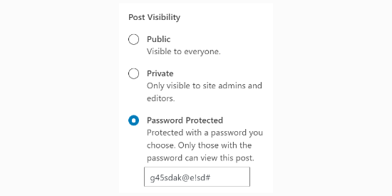 password protect wordpress page