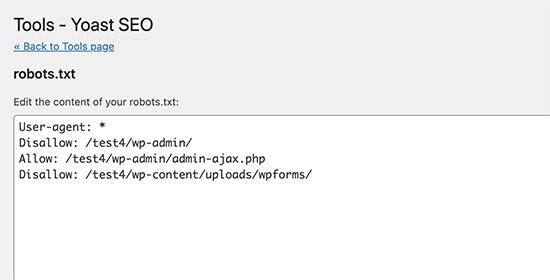 Edit robots.txt and .htaccess files