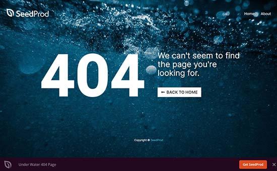 Underwater error page