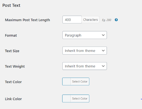 Edit post types elements