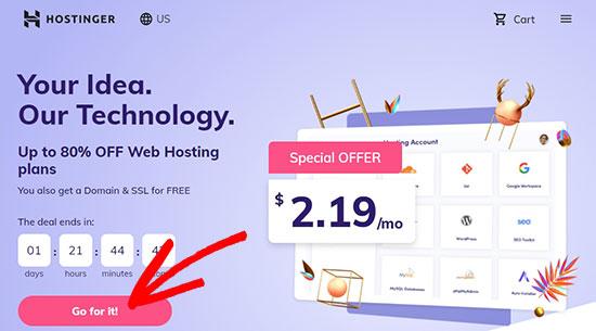 Hostinger website