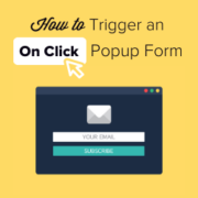 How to Open a WordPress Popup Form On Click of Link or Image