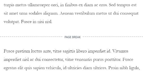 Visualizza l'interruzione di pagina nel tuo contenuto
