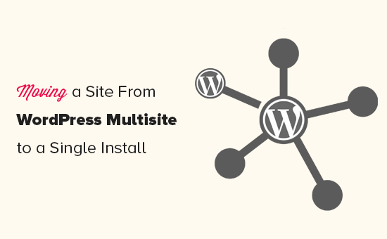 Splitting a site from WordPress multisite to single install