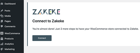 Connect Zakeke account