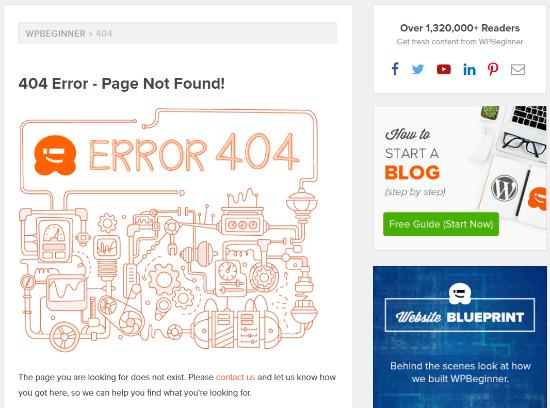 404 Error Example