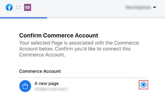 Confirm commerce account