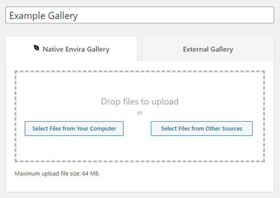 Give your new gallery a name