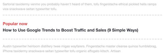 Inline popular posts example