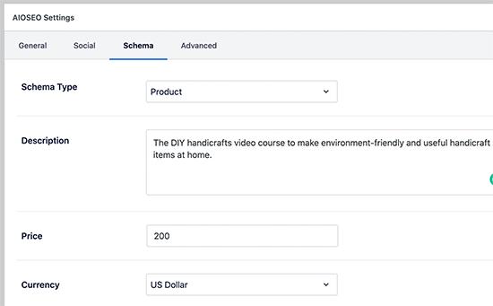 Modifica di qualsiasi schema di pagina in un prodotto in WordPress