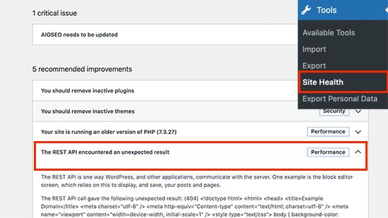 Problema con l'API REST in WordPress