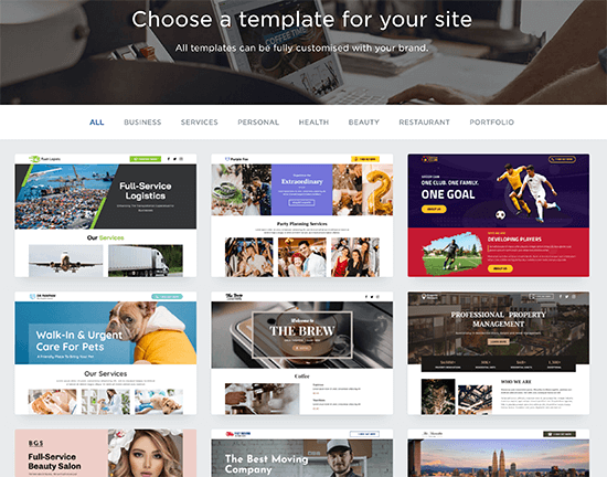 Web.com Website Builder Templates