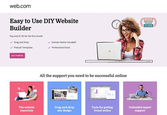 Web.com Website Builder Landing Page