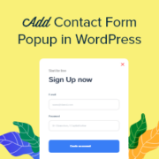 How to Add a Contact Form Popup in WordPress