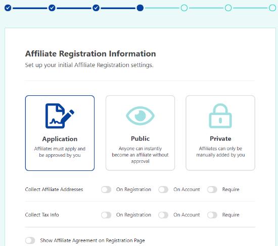 Add affiliate registration process details