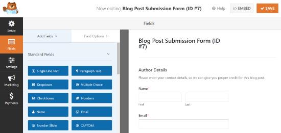 Add new form fields