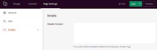 Add scripts to your login page